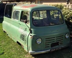 "The Slug,"" a 1960 Morris J2 van in Australia"