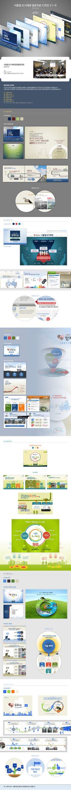 Seoul Urban Regeneration Plan 2015, Presentation Design with infographic. design by ptwiz. / 서울형 도시재생 발표자료 디자인 BY 피티위즈 / 클라이언트 : 서울특별시 도시재생본부
