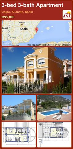 3-bed 3-bath Apartment in Calpe, Alicante, Spain ►€222,000 #PropertyForSaleInSpain