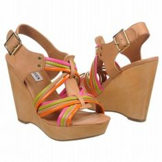 SALE - Steve Madden Tampaa Wedge Heels Womens Taupe Leather - Was $89.95 - SAVE $5.00. BUY Now - ONLY $85.45.