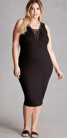 0c53786dd1e Plus Size Lace-Up Bodycon Dress Lace Up Bodycon Dress