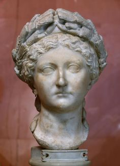 """...Portrait of Livia  Ancient Rome, Second quarter of the 1st century  Livia Drusilla (58 BC - 29 AD) was the third wife of Octavian Augustus. According to Tacitus, """"she was a passionately loving mother, an indulgent wife and a good helper in her husband's clever plans"""". Livia was successful in getting rid of all the pretenders to the throne in order that her son from her first marriage,"""