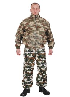 Cold Climate Camo Jacket Cold Climate Camo Pant -5 / -30 degree cover 100%Polyester Cotton/polyester Mixture with laminated Breathable All Nation Camo Designs Production under National Spec.