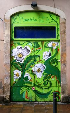 Door street Art Barcelone ..Spain