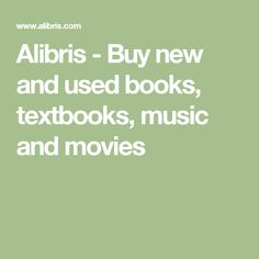 Alibris - Buy new and used books, textbooks, music and movies