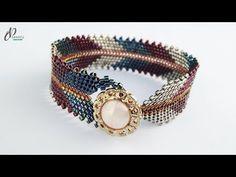bracelets with beads Beaded Bracelets Tutorial, Beaded Bracelet Patterns, Bracelet Designs, Handmade Bracelets, Beaded Earrings, Gold Bracelets, Gold Earrings, Colorful Bracelets, Beads Tutorial