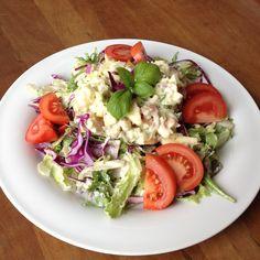 Deze salade met gerookte forel is geschiktals lunch of lichte avondmaaltijd. De saladeis laag in calorieën, maar er zitten wel veel eiwitten in.Je flanst hem zo in elkaar. Dus let's get to…