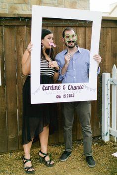 fun photo booth idea http://www.weddingchicks.com/2013/09/16/modern-texas-wedding-2/