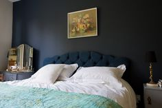 Paint colors that match this Apartment Therapy photo: SW 7745 Muddled Basil, SW 6152 Superior Bronze, SW 6485 Raindrop, SW 6260 Unique Gray, SW 6258 Tricorn Black