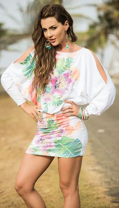 Tropical Blossoms Dress http://divashq.com/tropical-blossoms-dress #sundresses #dresses #floraldresses #minidresses #floral #fashion