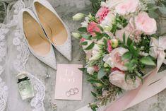 A Romantic Fairy-Tale Wedding In Toronto Wedding Shoot, Chic Wedding, Wedding Details, Wedding Venues, Wedding Day, Wedding Decor, Coral Wedding Colors, Green Wedding, Bridesmaid Bouquet