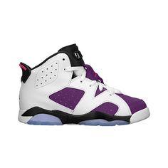 Jordan Retro 6 Girls' Preschool ($75) ❤ liked on Polyvore featuring jordan and shoes