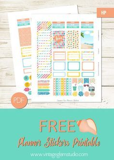 Summer Fun Planner Stickers for the Happy Planner