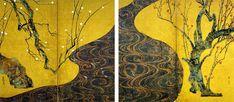 尾形光琳《紅白梅図屏風》(江戸時代 18世紀) MOA美術館蔵