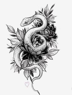 65 Ideas for tattoo snake drawing ink Serpent Tattoo, Tattoo Snake, Trendy Tattoos, Cool Tattoos, Tatoos, Small Tattoos, Tattoos For Men, Best Leg Tattoos, Cover Up Tattoos