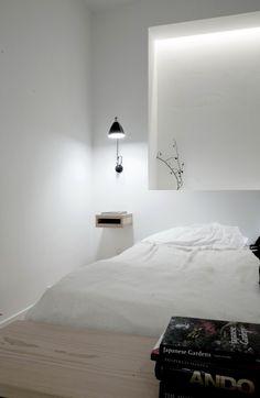 Norm Copenhagen Recessed Shelving in the Bedroom | Remodelista for guest room