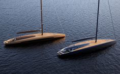 Cascada 34 - Luxury sailing yacht on Behance Yacht Design, Boat Design, Luxury Sailing Yachts, Big Yachts, Classic Wooden Boats, Below Deck, Garage Makeover, Yacht Boat, Speed Boats
