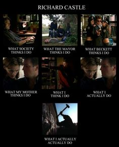 Richard Castle: What I actually, actually do.