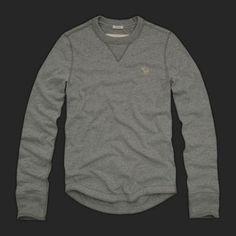 mens abercrombie long sleeved grey