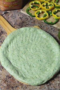 Spinach Pizza Dough by The Spiffy Cookie