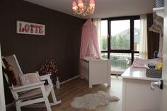 Klassiek grijs roze Babykamer