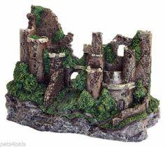 Large-Rustic-Castle-Ruins-Aquarium-Decoration-Fish-Tank-Ornament-29cm