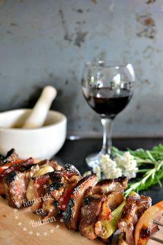 Brochettes de porc aux légumes bio - Recette à la plancha