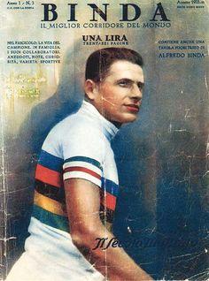 Alfredo Binda - World Champion '27 '30 '32. En de eerste die 5x de Giro won. Lees ook www.touretappe.nl