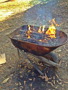 Wheelbarrow fire pit