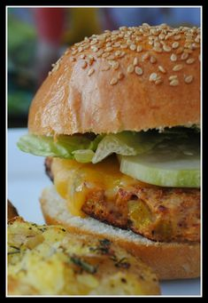 Southwest Turkey Burgers w/ Avacado-Ranch Dressing.
