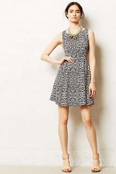 Anthropologie - Pebble Print Dress