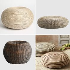 Like the versatility.  Can be used like an ottoman, footstool or extra seating in a small living space and I love natural fibers!