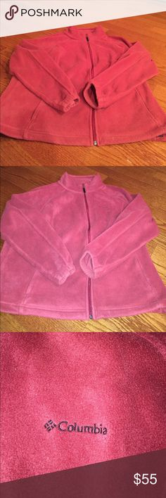 COLUMBIA JACKET REDDISH PINK Reddish pink Columbia jacket only worn a couple times great condition Columbia Jackets & Coats