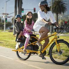 Yuba Kombi Compact Cargo Bike - Yuba Cargo Bikes Kids Bicycle, Bicycle Seats, Bamboo Decking, Four Kids, Cargo Bike, Compact, Health, Health Care, Salud