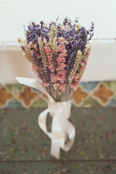 Dried flowers for a bridal bouquet - Tess and Charlie by Esme Ducker Photography on Want that Wedding