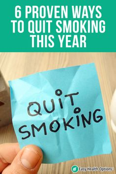 <p>Smoking is bad for you. No news there. But now we know that smoking also makes your lungs a target for the SARS-CoV-2 virus that causes COVID-19. Here are six proven stop-smoking methods you can use to make 2021 the year you quit.</p> Nicotine Patch, Nicotine Gum, Smoking Is Bad, Health Options, Withdrawal Symptoms, Smoking Cessation, Natural Health Tips, Circulatory System, Lung Cancer
