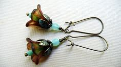 Mother's Day Sale 20 off Turquoise and brown by VerdigrisGifts, $15.00