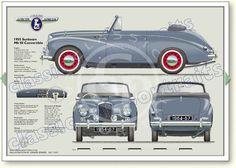 Sunbeam MkIII 1954-57 classic car portrait print