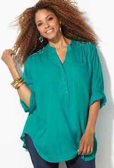 Shop Plus Size Shirts and Blouses Sale | Avenue.com