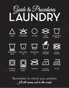 Guide to Procedures Laundry