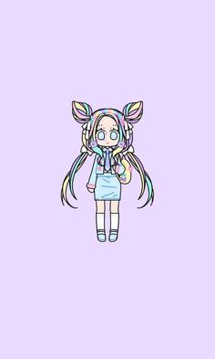 Party School PASTEL GIRL by Amnah Hussain  @Amnah ! Up Game, Kawaii Wallpaper, School Parties, Pastel Colors, Cute Girls, Apps, Party, Pastel Colours, Kawaii Background