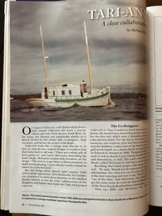 """www.stevejess.com  I was approached by Wooden Boat Publications out of Brooklin Maine, US. last October about photographing a very unique boat that was built by Tern Boatworks in Mahone Bay, NS.🚤   If your """" into """" wooden boats and everything about them, then WoodenBoat magazine would be the """" go to """" magazine to learn all you can about the wooden boat industry. www.woodenboat.com. ⛵️  Pictured above is the photo on page 34 of the January/February issue of WoodenBoat magazine"""