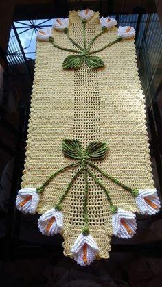 Table centerpiece crochet doily french decor - housewarming crochet rose gift for wife - rose table decoration crochet anniversary runner Crochet Flower Patterns, Doily Patterns, Crochet Flowers, Knitting Patterns, Crochet Table Topper, Crochet Table Runner, Crochet Tablecloth, Diy Crafts Crochet, Crochet Gifts