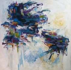 """""""Winter Solstice,"""" abstract painting by Karri Allrich, Saatchi Artist"""