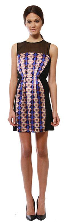Twelfth Street by Cynthia Vincent Ink Blot Stripe Print Dress at Thera M.