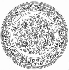 Adult colouring page (unfortunately, don't know who to give credit to for this design).