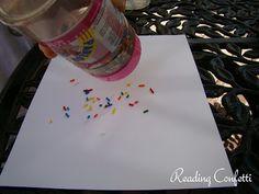 Firework art made from ice cream sprinkles!