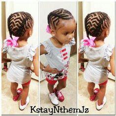 Chevron cornrows ... Natural Kids Hair Style