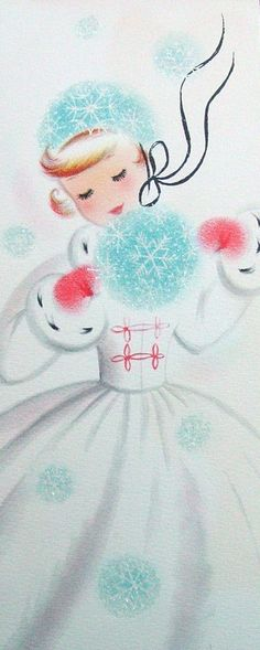 So sweetly lovely! #vintage #Christmas #cards                                                                                                                                                                                 More