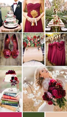 #MoodBoard de bodas en marsala, verde oscuro y un ocre muy suave #bodas #weddings #tendencias #estilo #decoracion #inspiracion #ideas Wedding Mood Board, Marsala, Table Decorations, Weddings, Home Decor, Valentines Day Weddings, Ideas, Wedding Inspiration, Bridal Gowns